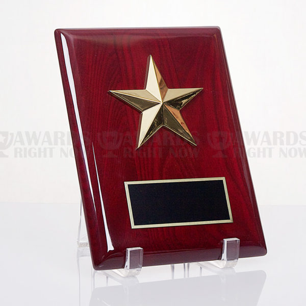 Rosewood Star Plaque